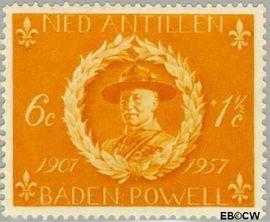 Nederlandse Antillen NA 258  1957 Padvinderij 6+2 cent  Postfris