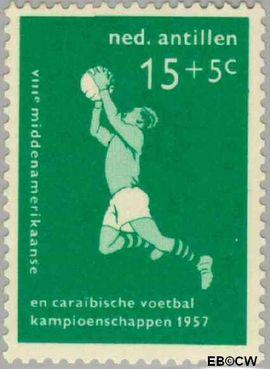 Nederlandse Antillen NA 267  1957 Voetbalkampioenschappen 10 cent  Postfris