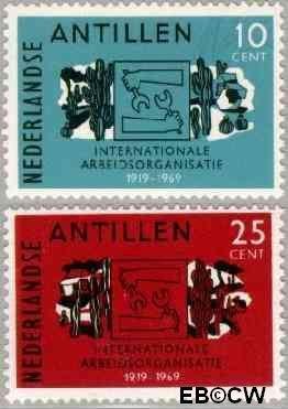 Nederlandse Antillen NA 414#415  1969 I.A.O. 40+20 cent  Postfris
