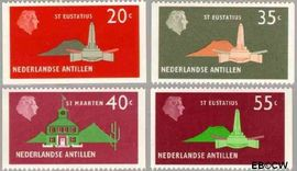 Nederlandse Antillen NA 559#562  1977 Landschappen 150 cent  Postfris