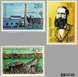 Nederlandse Antillen NA 601#603  1978 Smith, Leonard B.  cent  Postfris
