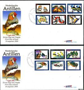 Nederlandse Antillen NA E386ab  2006 Vogels  cent  FDC zonder adres