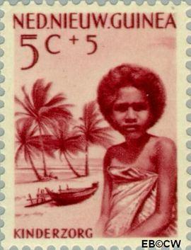 Nieuw-Guinea NG 45  1958 Papoea-kinderen 5+5 cent  Gestempeld