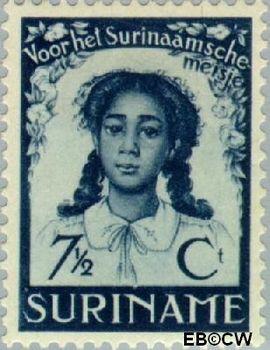 Suriname SU 186  1938 Vrijverklaring slaven 7½+5 cent  Gestempeld