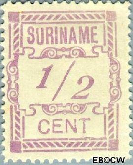 Suriname SU 65  1912 Hulpuitgifte ½ cent  Gestempeld