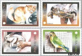 Aruba AR 260#263  2001 Standaardserie II  cent  Postfris