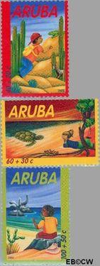 Aruba AR 291#293  2002 Kind en dieren  cent  Postfris