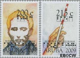 Aruba AR 417#418  2008 Braille, Louis  cent  Postfris