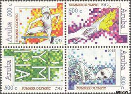 Aruba AR 598#601  2012 Olympische Spelen Londen  cent  Postfris
