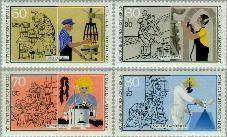 Berlin ber 780#783  1987 Handwerkers  Postfris