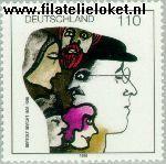 Bundesrepublik BRD 1972#  1998 Brecht, Bertold  Postfris