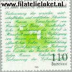 Bundesrepublik BRD 1988#  1998 Vereniging plattelandsvrouwen  Postfris