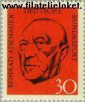 Bundesrepublik BRD 567#  1968 Adenauer, Dr. Konrad  Postfris