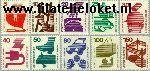 Bundesrepublik BRD 694#703  1971 Voorkoming ongevallen  Postfris