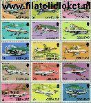 Gibraltar gib 432#446  1982 Vliegtuigen  Postfris