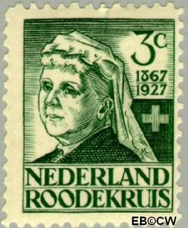 Nederland NL 204  1927 Rode Kruis 3+2 cent  Postfris