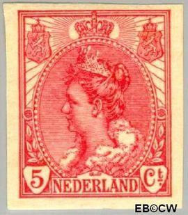 Nederland NL 82  1923 Koningin Wilhelmina- 'Bontkraag' ongetand 5 cent  Postfris