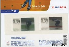 Nederland NL M331  2006 Olympische winterspelen- Going for gold  cent  Postfris