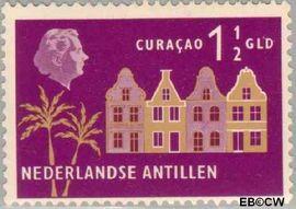 Nederlandse Antillen NA 288  1958 Landschappen 25+12 cent  Postfris