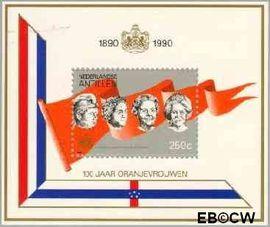 Nederlandse Antillen NA 957  1990 Oranjevrouwen op de troon  cent  Postfris