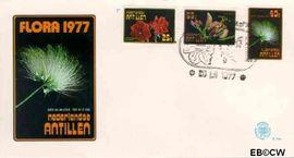 Nederlandse Antillen NA E104  1977 Bloemen  cent  FDC zonder adres