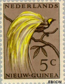 Nieuw-Guinea NG 26  1954 Paradijsvogel 5 cent  Gestempeld