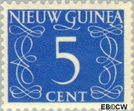 Nieuw-Guinea NG 6  1950 Type 'van Krimpen' 5 cent  Gestempeld