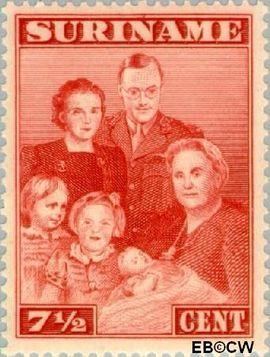 Suriname SU 207  1943 Bezoek Prinses Juliana 7½ cent  Gestempeld
