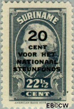 Suriname SU 217  1945 Steunfonds 22½+20 cent  Gestempeld