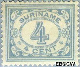 Suriname SU 76  1913 Drukwerkzegel 4 cent  Gestempeld