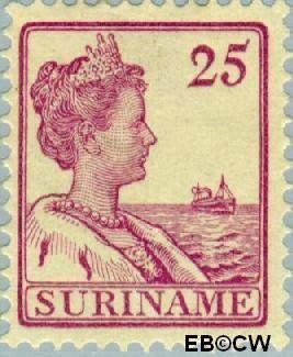 Suriname SU 96  1915 Scheepjes-type 25 cent  Gestempeld