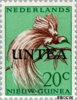 West-Nieuw-Guinea NG WNG15  1962 UNTEA opdruk 20 cent  Gestempeld