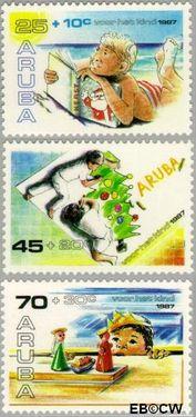 Aruba AR 34#36  1987 Kinderen in kersttijd  cent  Postfris