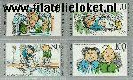 Bundesrepublik BRD 1455#1458  1990 Max en Moritz  Postfris