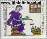 Bundesrepublik BRD 1490#  1991 Apothekers  Postfris