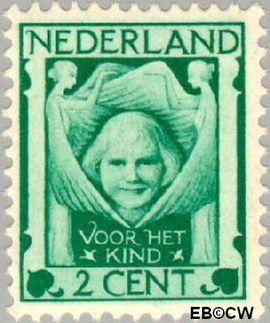 Nederland NL 141  1924 Kinderkopje tussen engelen 2+2 cent  Postfris