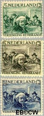 Nederland NL 229#231  1930 Vereniging Rembrandt   cent  Postfris