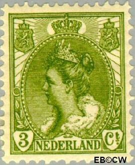 Nederland NL 57  1901 Koningin Wilhelmina- 'Bontkraag' 3 cent  Postfris