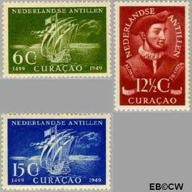 Nederlandse Antillen NA 206#208  1949 Ontdekking  cent  Postfris