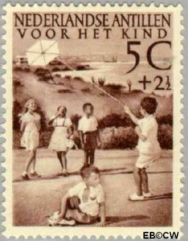 Nederlandse Antillen NA 235  1951 Kinderspelen 6+1½ cent  Postfris
