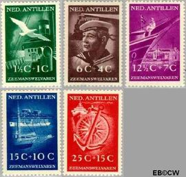 Nederlandse Antillen NA 239#243  1952 Zeemanswelvaren 10 cent  Postfris