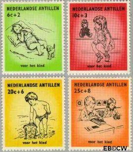 Nederlandse Antillen NA 318#321  1961 Kinderen  cent  Postfris