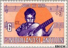 Nederlandse Antillen NA 416  1969 Kind en muziek  cent  Postfris