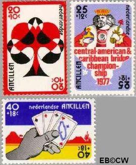 Nederlandse Antillen NA 537#539  1977 Bridge-toernooi Aruba 5 cent  Postfris