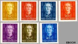Nederlandse Antillen NA 604#610  1979 Type 'En Face' met diadeem  cent  Postfris