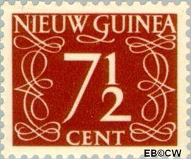 Nieuw-Guinea NG 7  1950 Type 'van Krimpen' 7½ cent  Gestempeld
