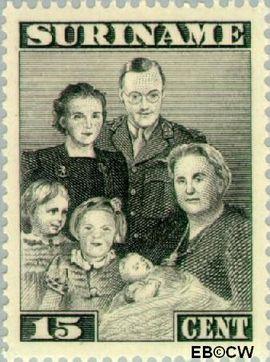 Suriname SU 208  1943 Bezoek Prinses Juliana 15 cent  Gestempeld