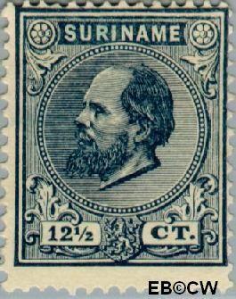 Suriname SU 7  1885 Eerste emissie 12½ cent  Gestempeld