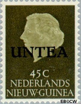 West-Nieuw-Guinea NG WNG16  1962 UNTEA opdruk 45 cent  Gestempeld