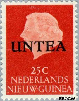 West-Nieuw-Guinea NG WNG6  1962 UNTEA opdruk 25 cent  Gestempeld